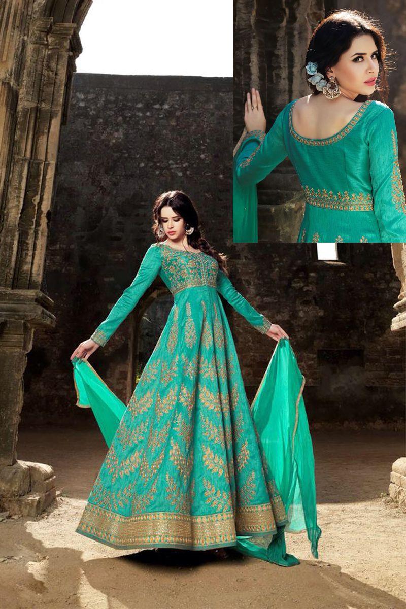 Green Heavy Designer Wedding Wear Anarkali Suits Catalog Bela ...