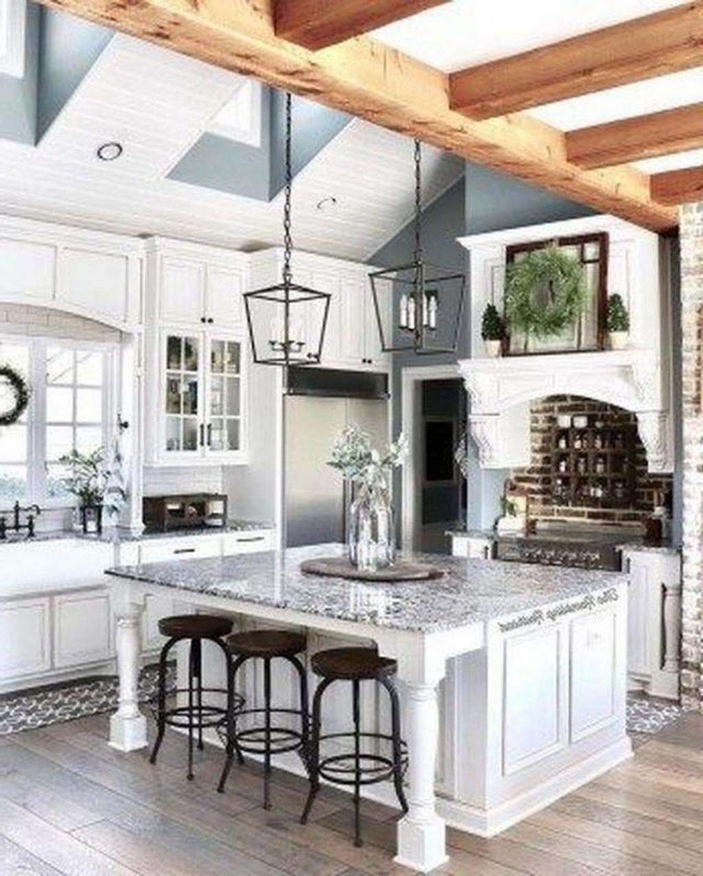 30 elegant farmhouse kitchen design decor ideas farmhouse kitchen decor french country on kitchen ideas elegant id=99210