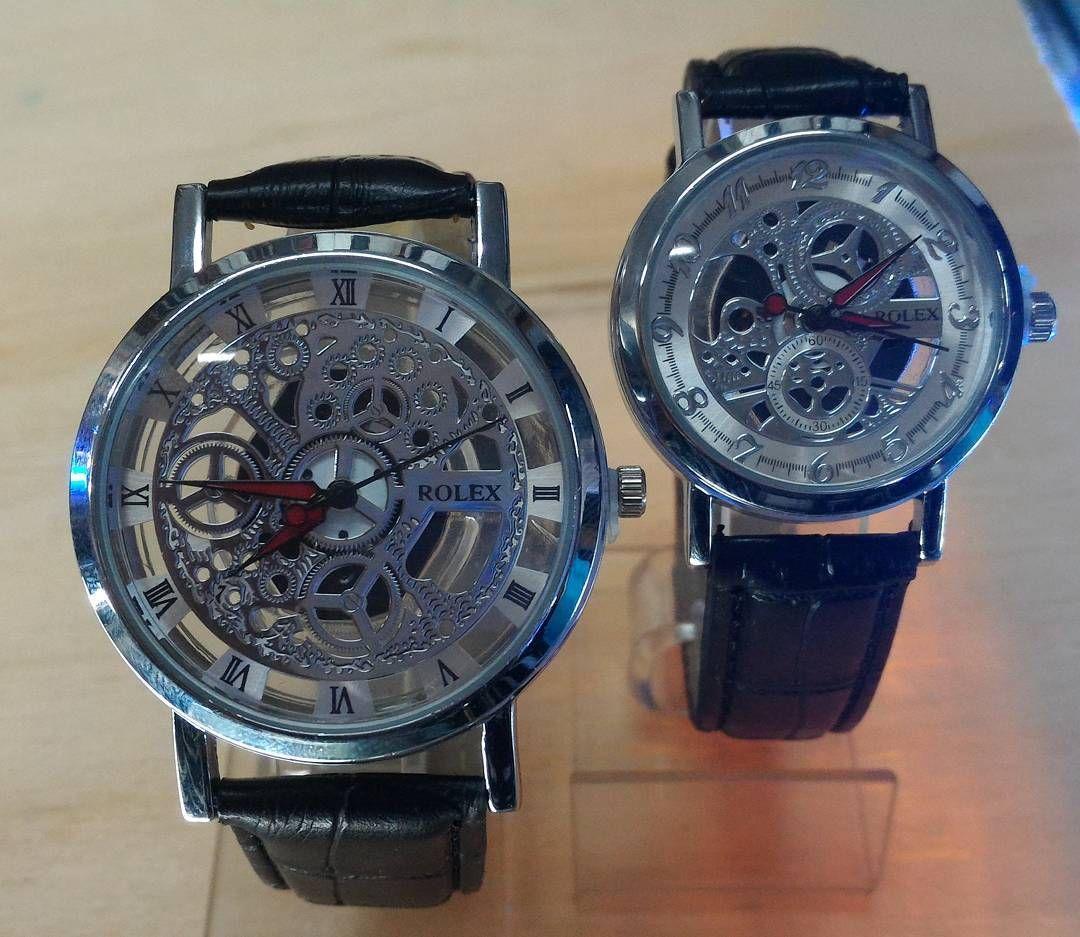 Jam Tangan Rolex Couple F275 Material Kulit Sintetis Harga 130