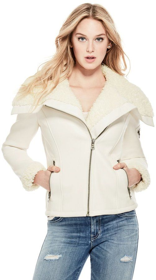041814cf GUESS Women's Adeline Faux-Leather Jacket | Fall and Winter Fashion ...