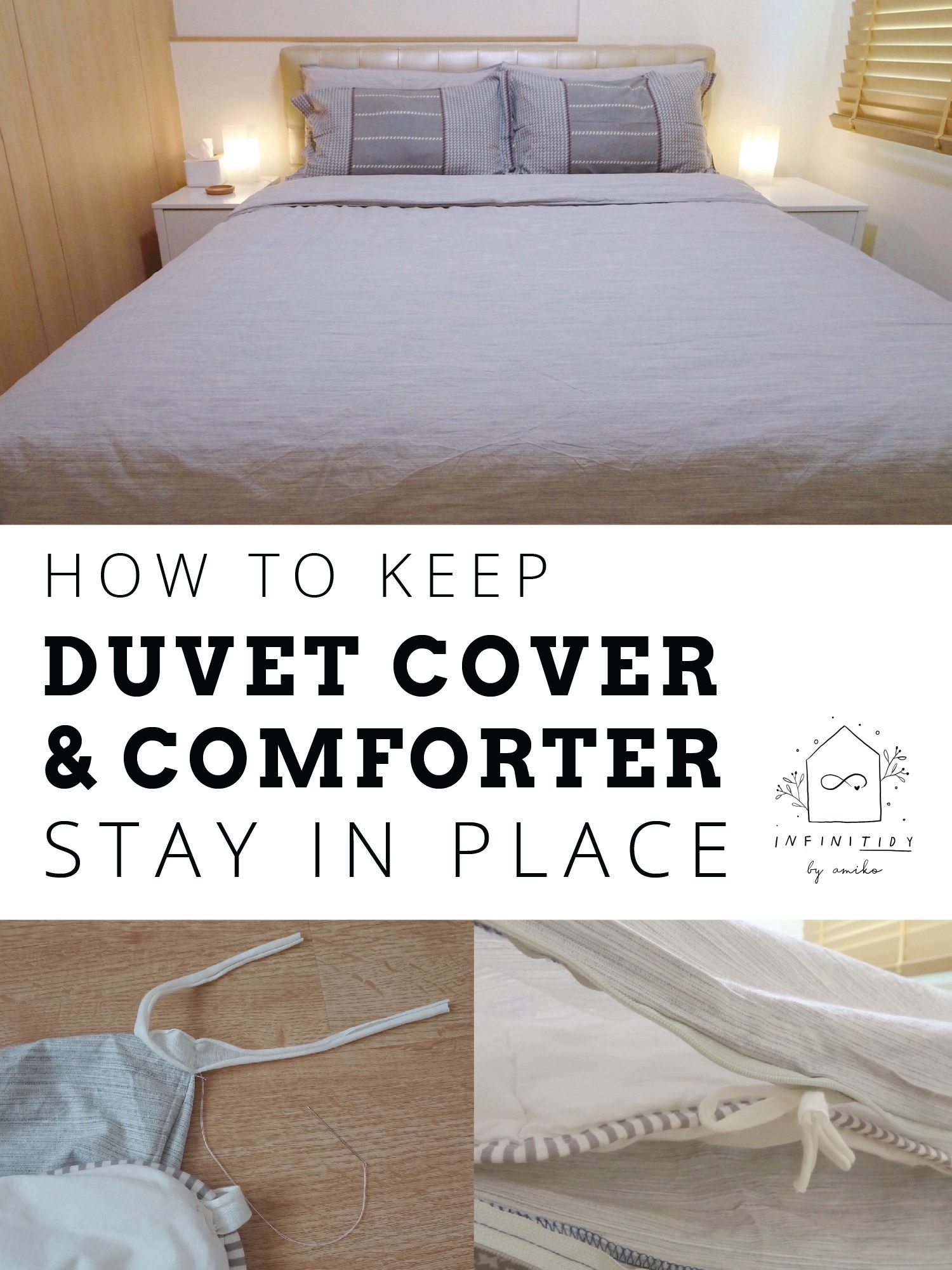 How To Keep Duvet Cover Comforter Stay In Place With Images