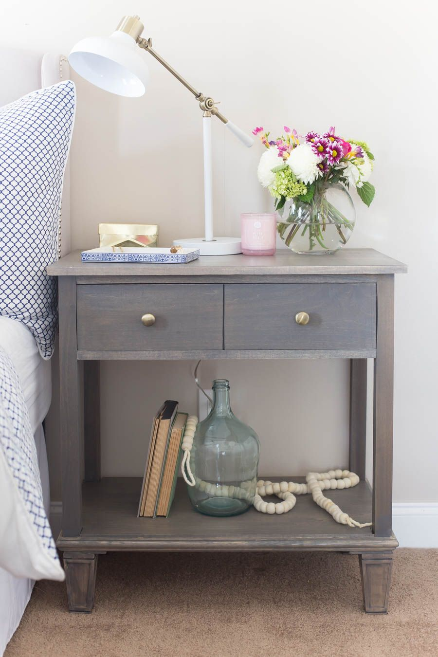 Diy Pottery Barn Inspired Sausalito Bedside Table Diy Nightstand
