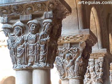 Capiteles Claustro De La Catedral De Tudela Navarra Capiteles Arte Romano Bizantinos