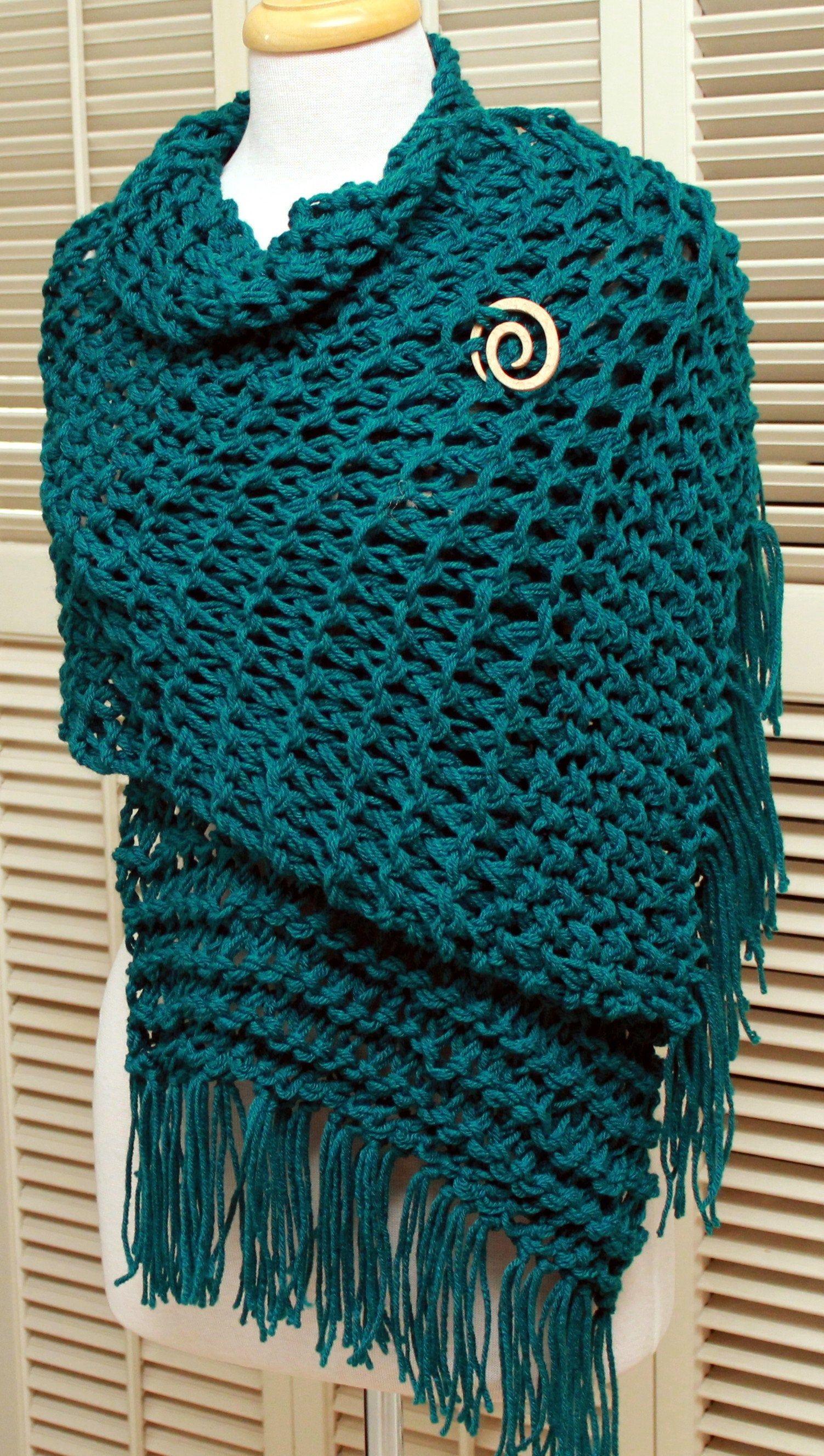 Photo of Items similar to Shawl Wrap Oversized Scarf Hand Knit Fringe Shawl Womens Shawl Extra Long Scarf Chunky Knit Shawl, Unique on Etsy