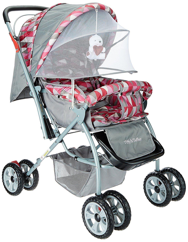 Buy Tiffy & Toffee Baby Stroller Pram Maxtrem (Gray/Orchid