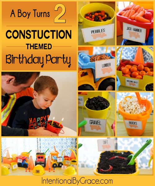Constuction Themed Birthday Party