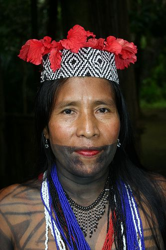 Embera Wounaan lady in Sambú,   Panama    by sensaos