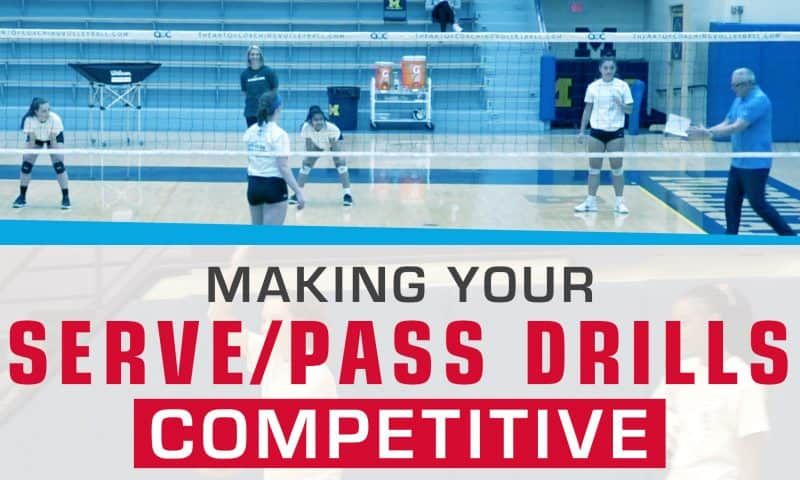 Making Your Serve Pass Drills Competitive Coaching Volleyball Volleyball Training Volleyball Skills