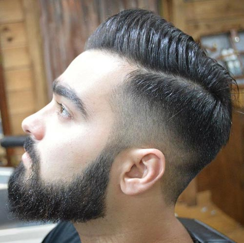 50++ Comb over fade with beard inspirations