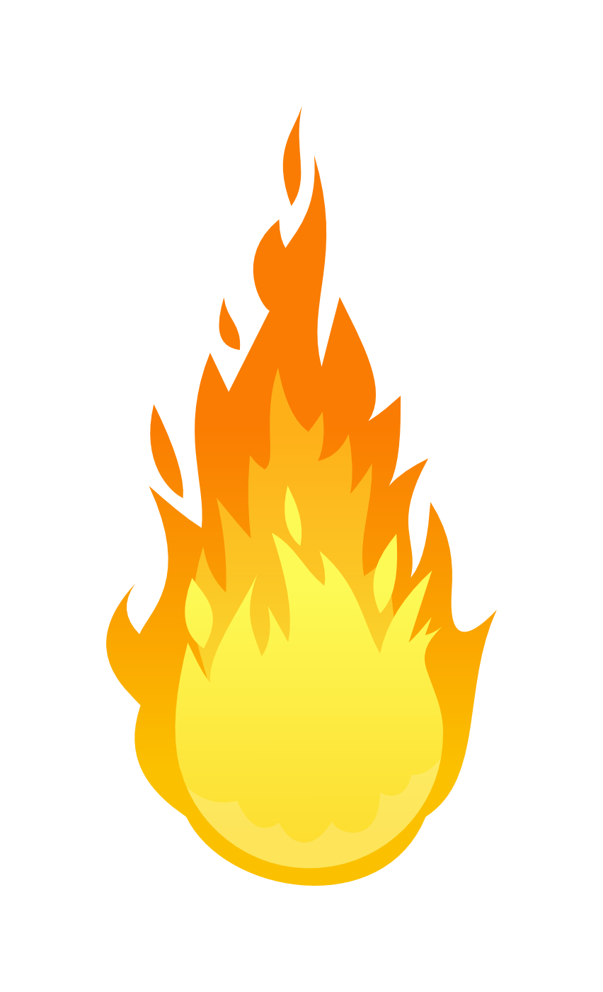 Simple Black Flame Clipart Clipart Flame Flameicon