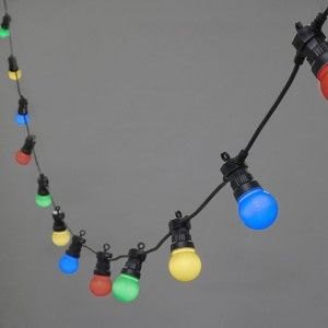 Led festoon lights 10 outdoorgarden lighting pinterest i am more of a white light fan but could see the coloured lights as a fun addition to an outdoor space 20 led multi coloured connectable festoon lights mozeypictures Choice Image