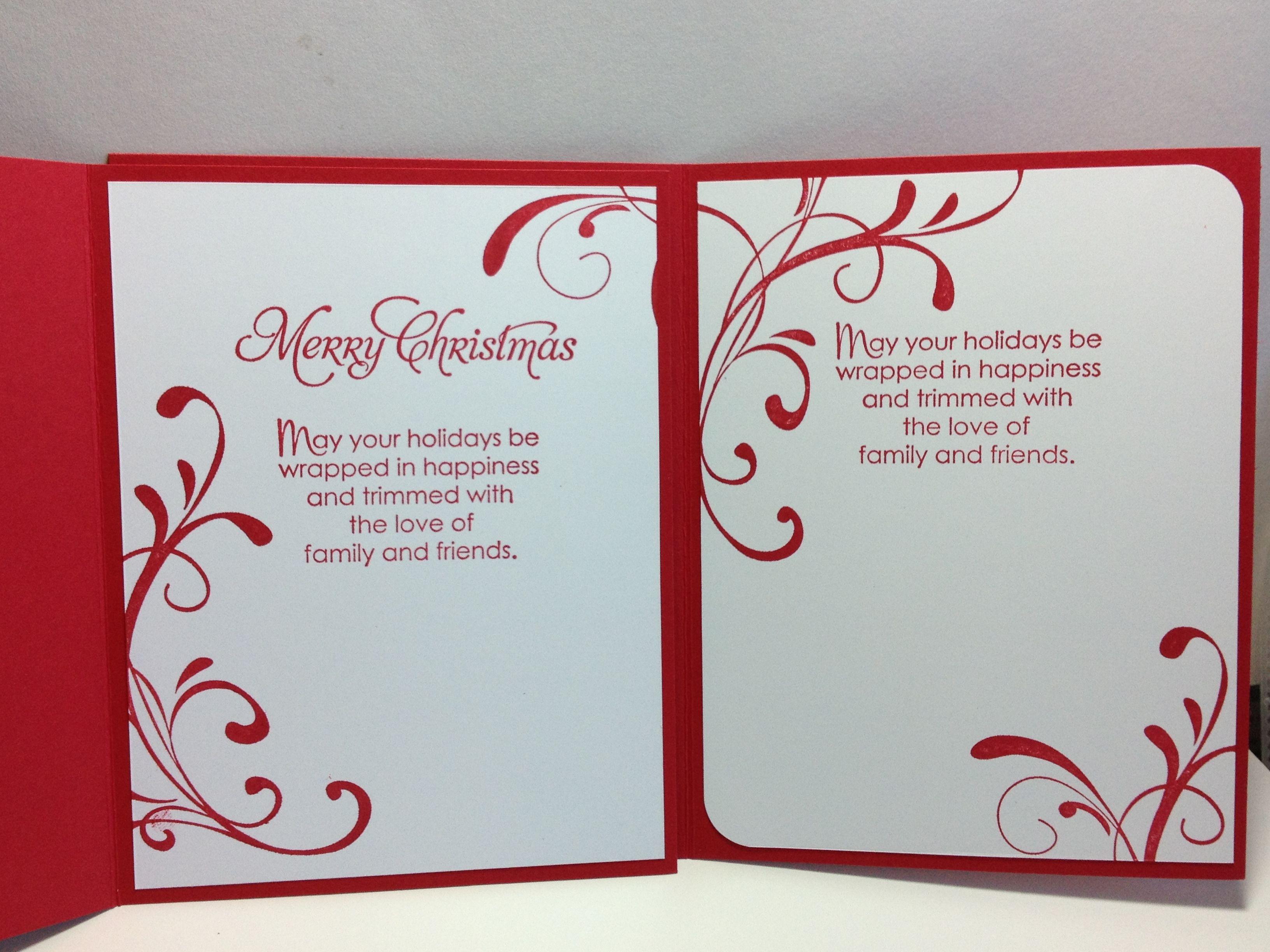 inside card  christmas cards handmade