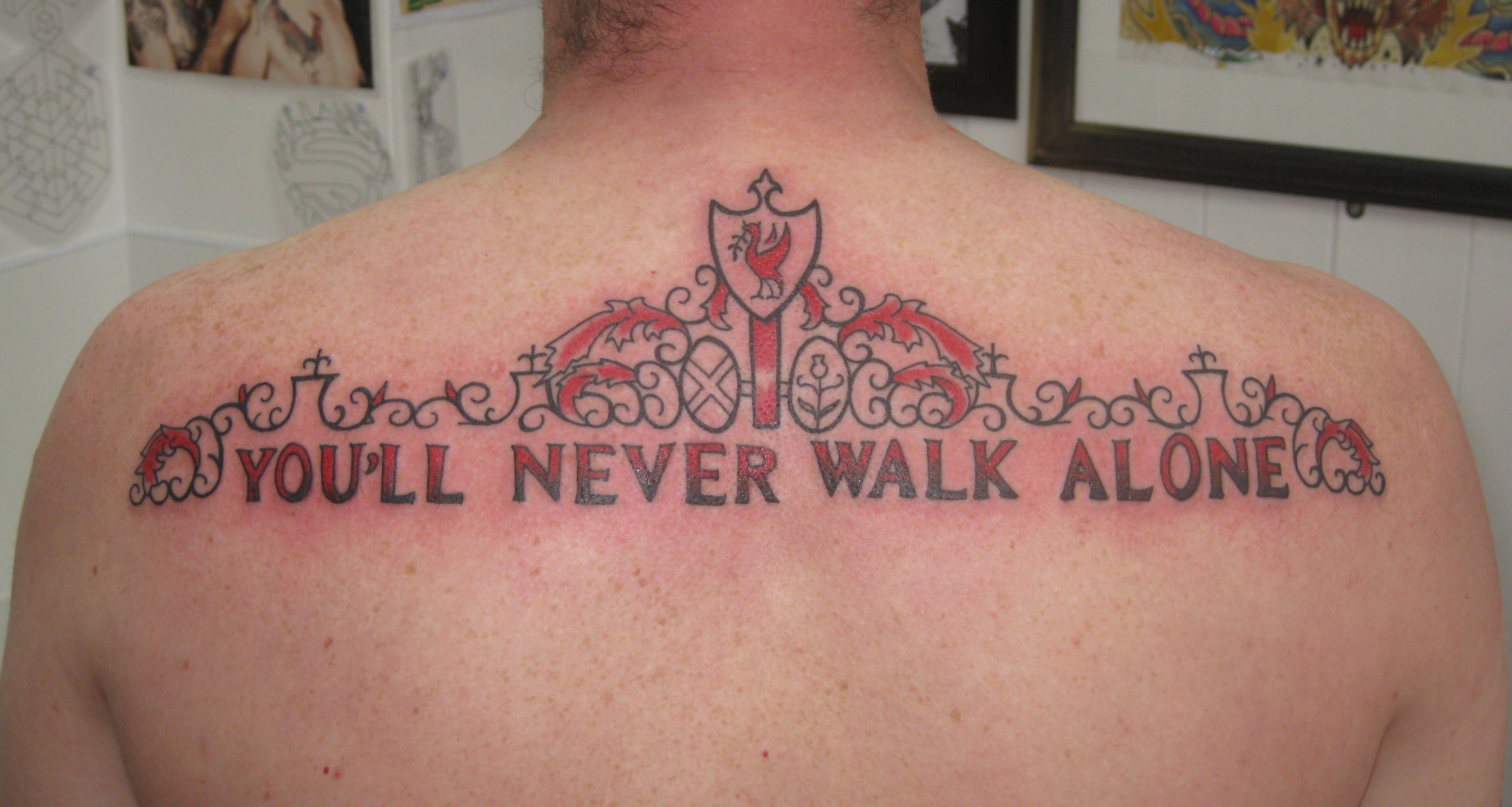Walk with the knowledge that you are never alone. Tattoo