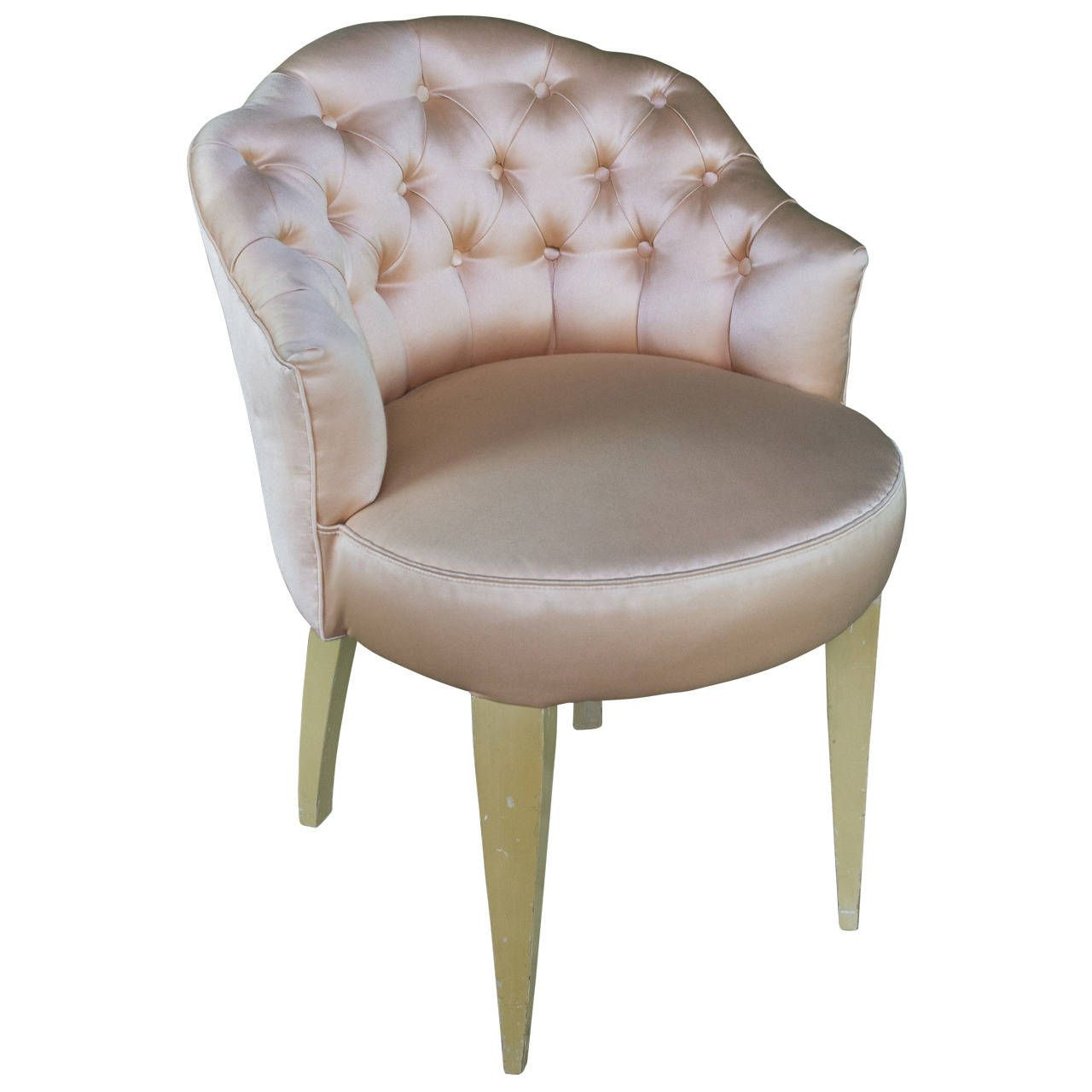 Surprising 20Th Century French Tufted Back Vanity Stool Decor Machost Co Dining Chair Design Ideas Machostcouk
