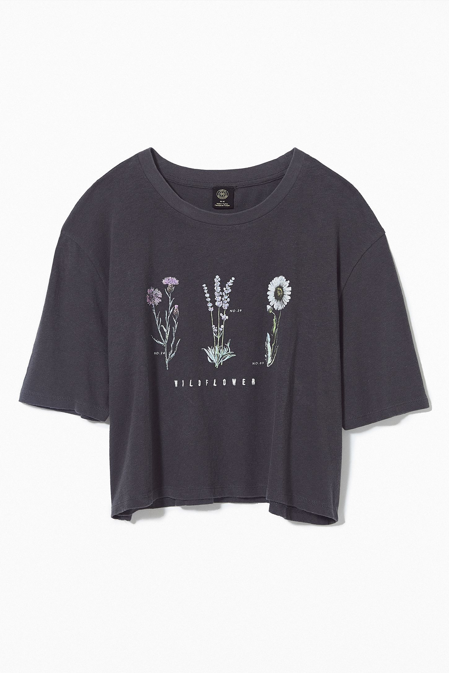Embroidered Wildflower Cropped Top #cutecroptops