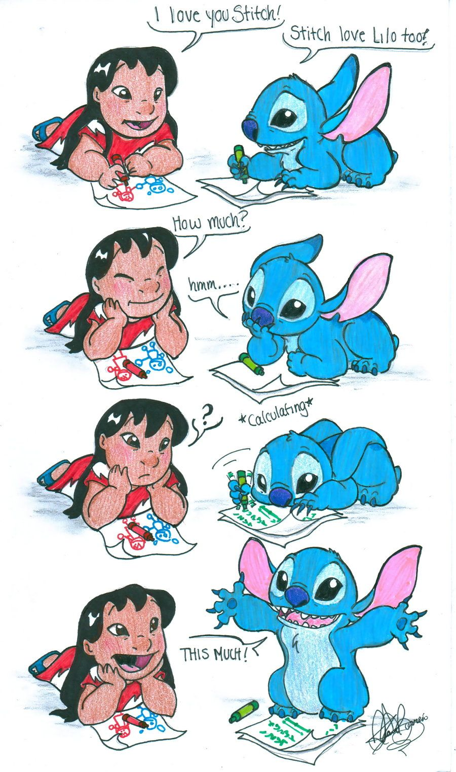 I Love You This Much By Jackfreak1994 On Deviantart Cute Cartoon Wallpapers Lilo And Stitch Quotes Cute Disney Wallpaper