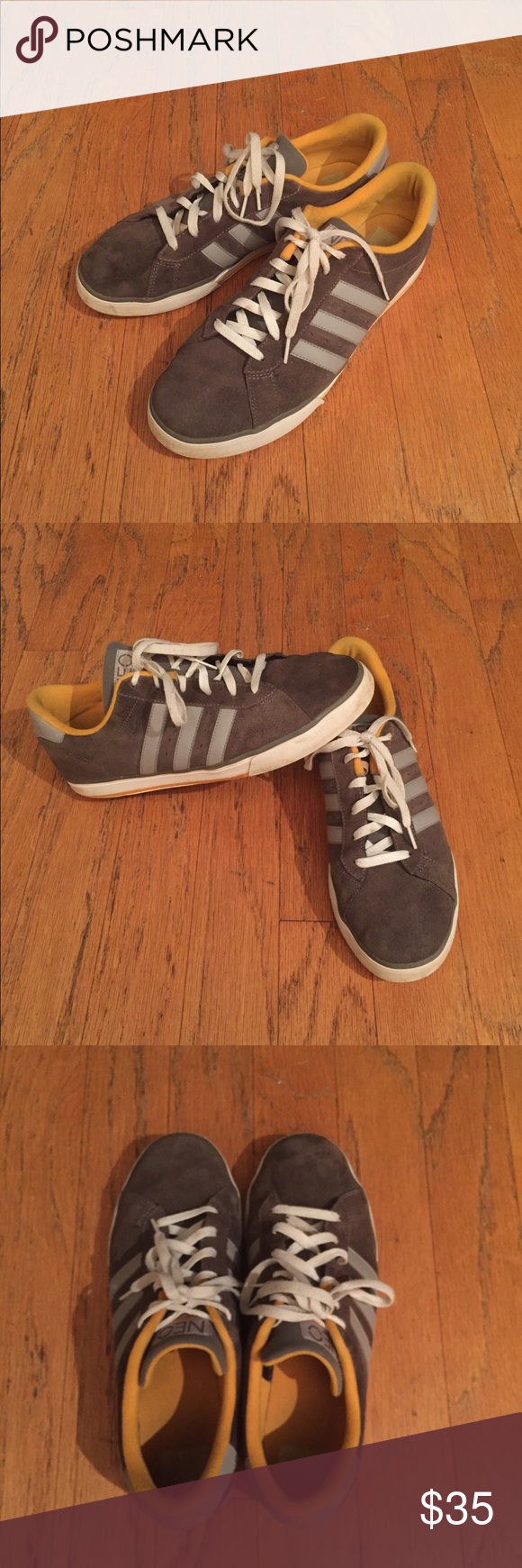 Adidas Neo Label Gray Suede Skateboarding Shoes Adidas Neo