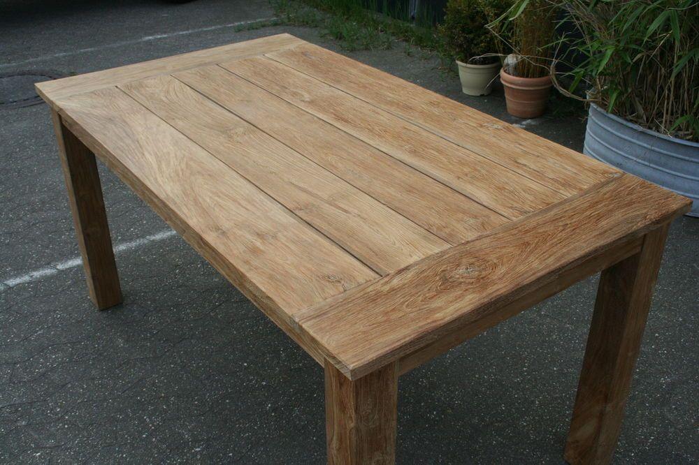 Teak Gartentisch 220 cm Teak Möbel Massivholz Neu Teakholz Tische ...