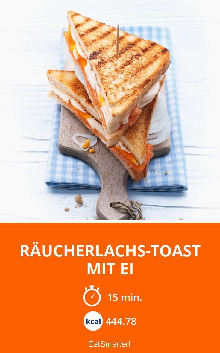 Räucherlachs-Toast mit Ei