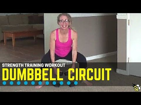 22 minute dumbbell athome circuit workout  great