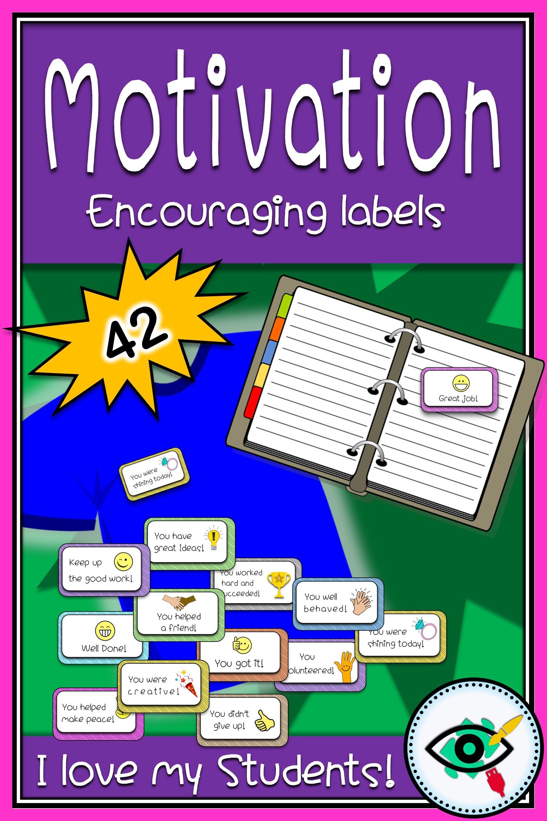 Motivation Encouraging Labels Printable