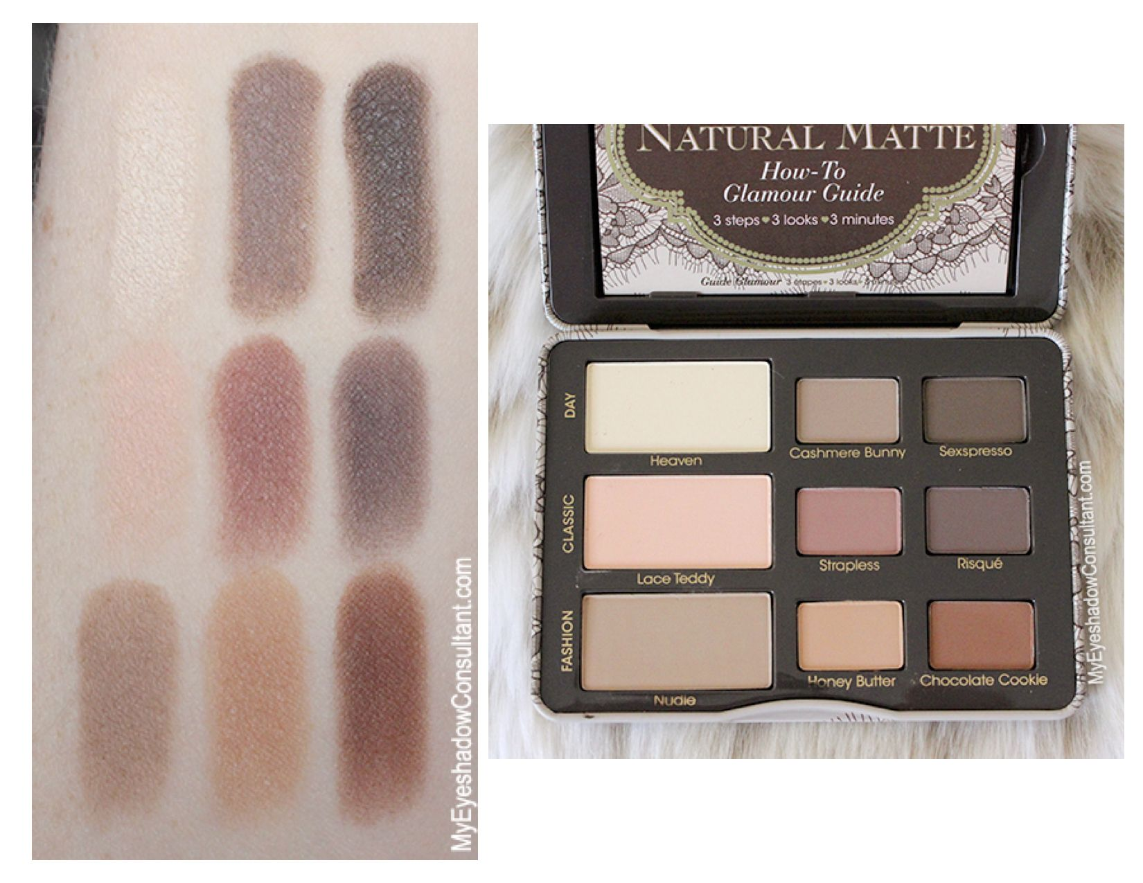 Too Faced Natural Eyes Vs Natural Matte Swatches