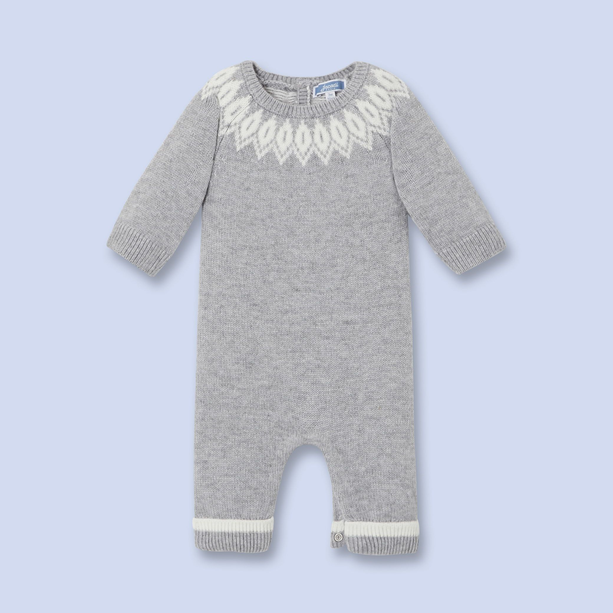 jacadi combinaison en tricot pour b b gar on layette pinterest tricot pour b b b b. Black Bedroom Furniture Sets. Home Design Ideas