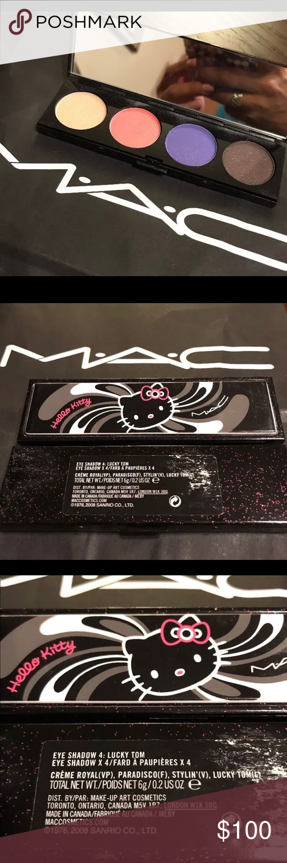 MAC Hello Kitty Eyeshadow x 4 Lucky Tom NWT (With images