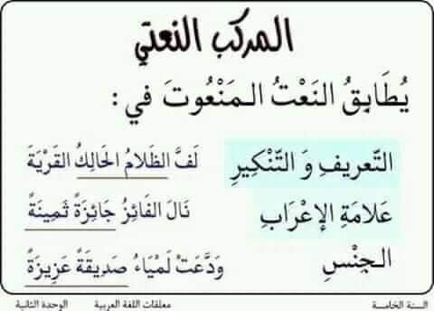 أنواع المركبات في اللغة العربية الموقع التربوي نج حني موقع المعل م والمتعل م