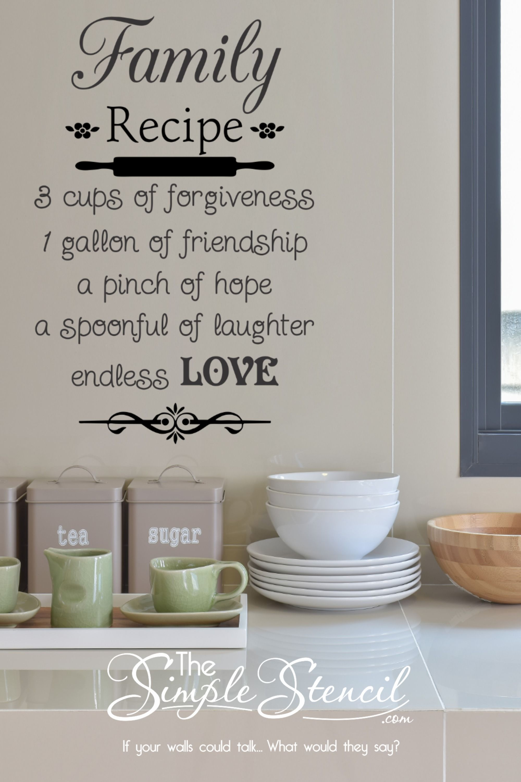 Pin On Kitchen Wall Quotes Lettering Vinyl Decals And Stencils
