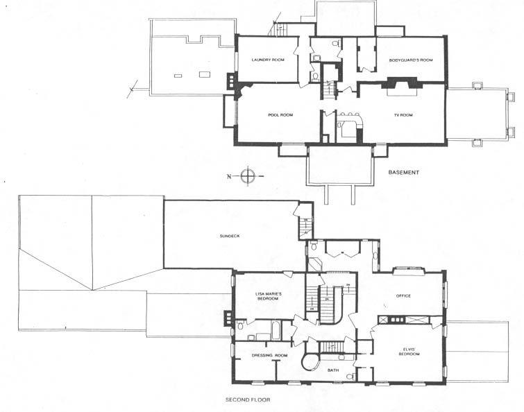 Graceland S Second Floor And Basement Elvis Presley