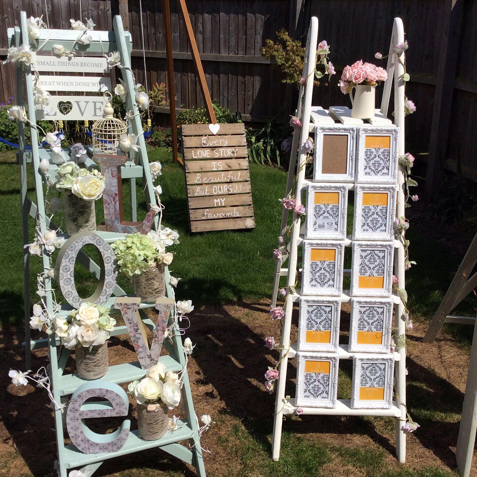 Wedding Ladders Love Seating Table Plan Cambridgeshire White Or Green Vintage Hire Only GBP30 Including