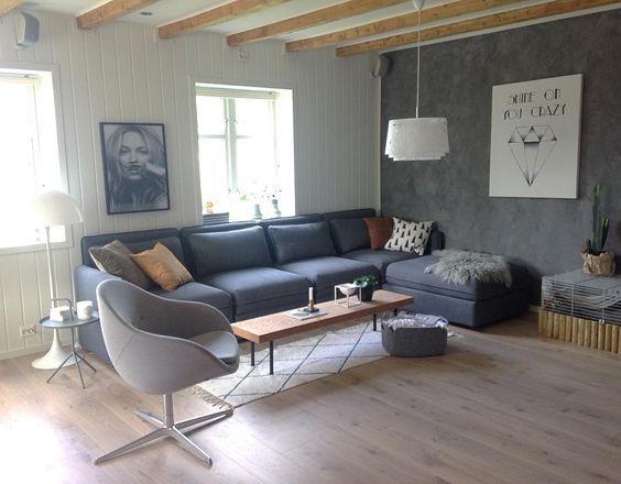 Glad for at vi ventet med å kjøpe ny sofa Til Vallentuna dukket - schwarz weiß wohnzimmer