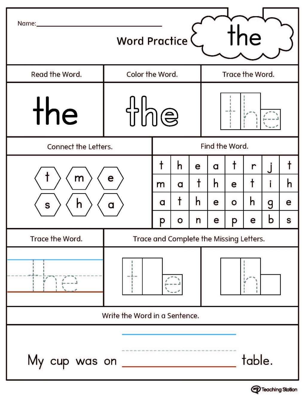 10 Sight Word It Worksheet Preschool Kindergarten Worksheets Sight Words Sight Word Worksheets Sight Word Worksheets Free