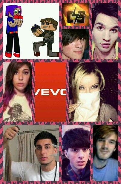 Pic collage youtubers