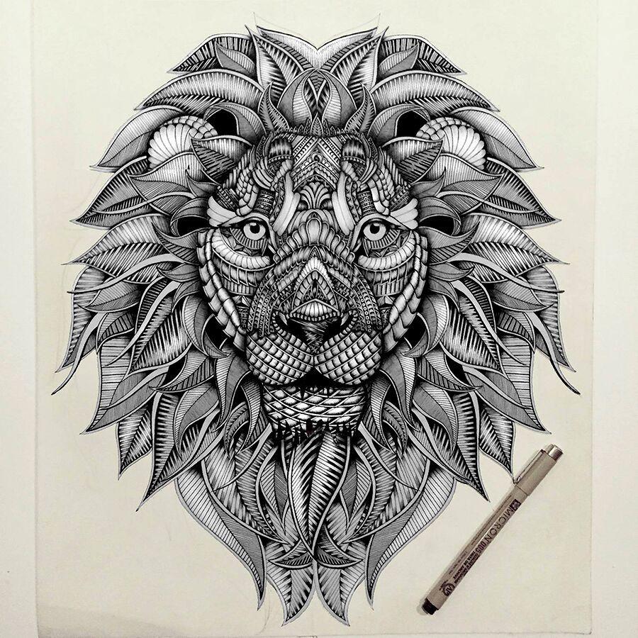 Dropbox t te de lion tatouage tatus pinterest mejores - Tete de lion tatouage ...