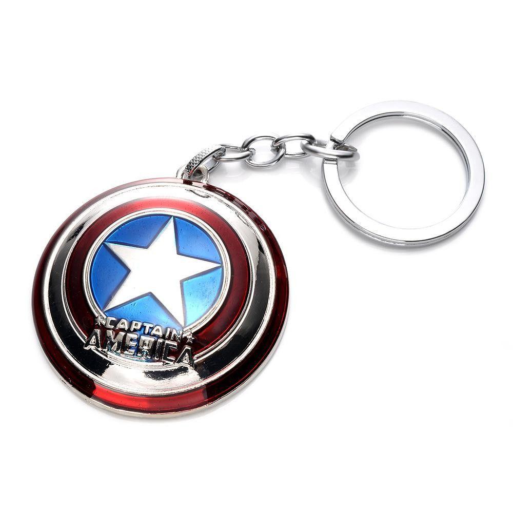 Retro The Avengers Marvel Character Captain America Keychain Keyring Car Keyfob