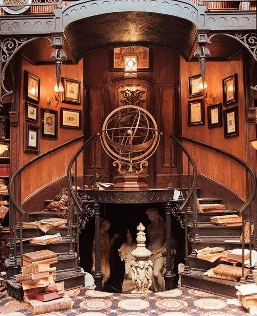 Haunted Mansion Library Study Steampunk Interior Steampunk House Steampunk Decor