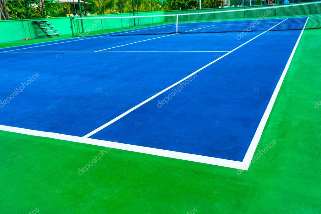 Part Of The Tennis Court With Markup Artificial Surface Green S Stock Ad Court Markup Part Tennis Ad