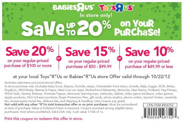 photo regarding Printable Babies R Us Coupons called Toddlers R Us #Coupon Oh, #child! Help you save 10-20% off your
