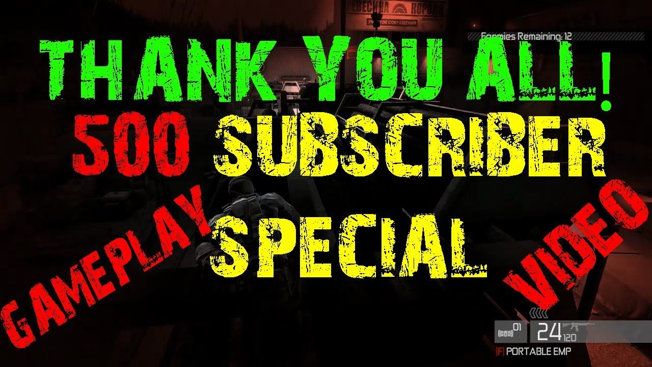 500 SUBSCRIBERS SPECIAL VIDEO 2017|SPLINTER CELL ...