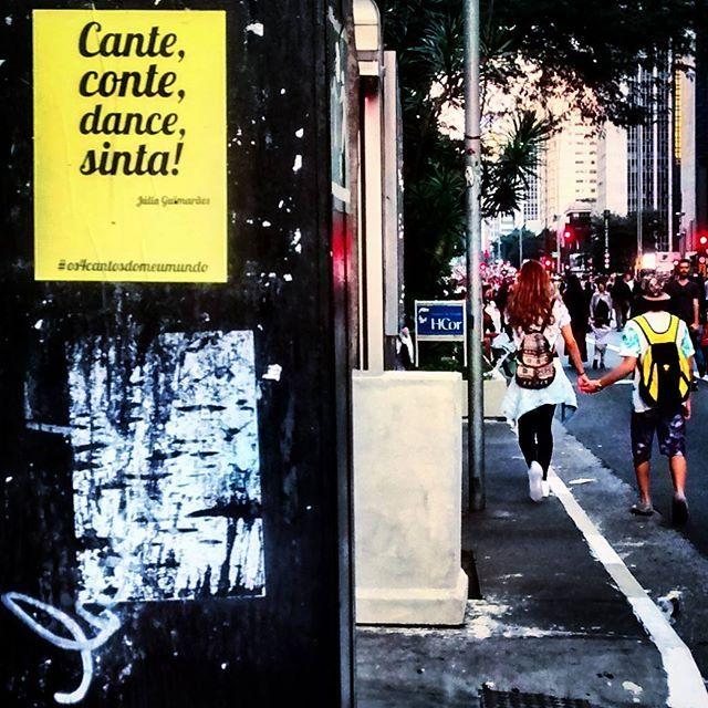 cante, conte, dance, sinta... viva! 👫 #amoresanônimos #existeamoremSP #sp #splovers #essepe #paulistando #avpaulista