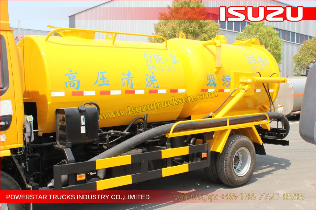 Excellent 6000Liter Philippines Isuzu Sewer Cleaning
