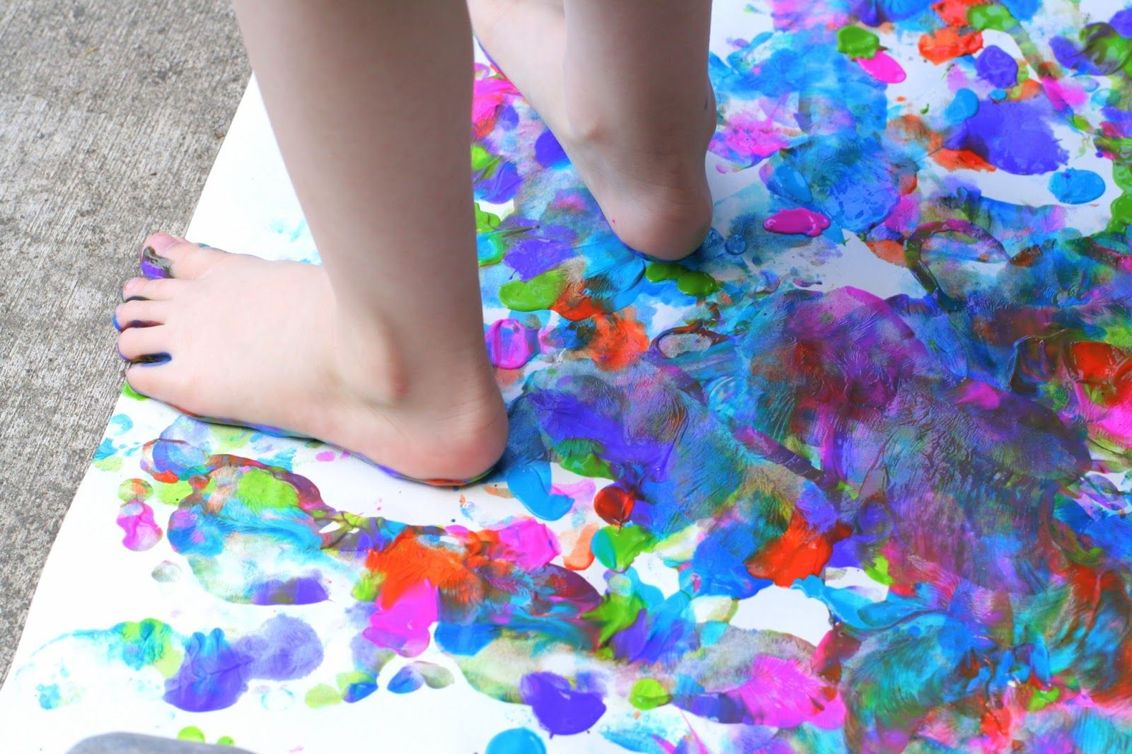 Big Art: Painting with your Feet!   Outdoor Spring Activities