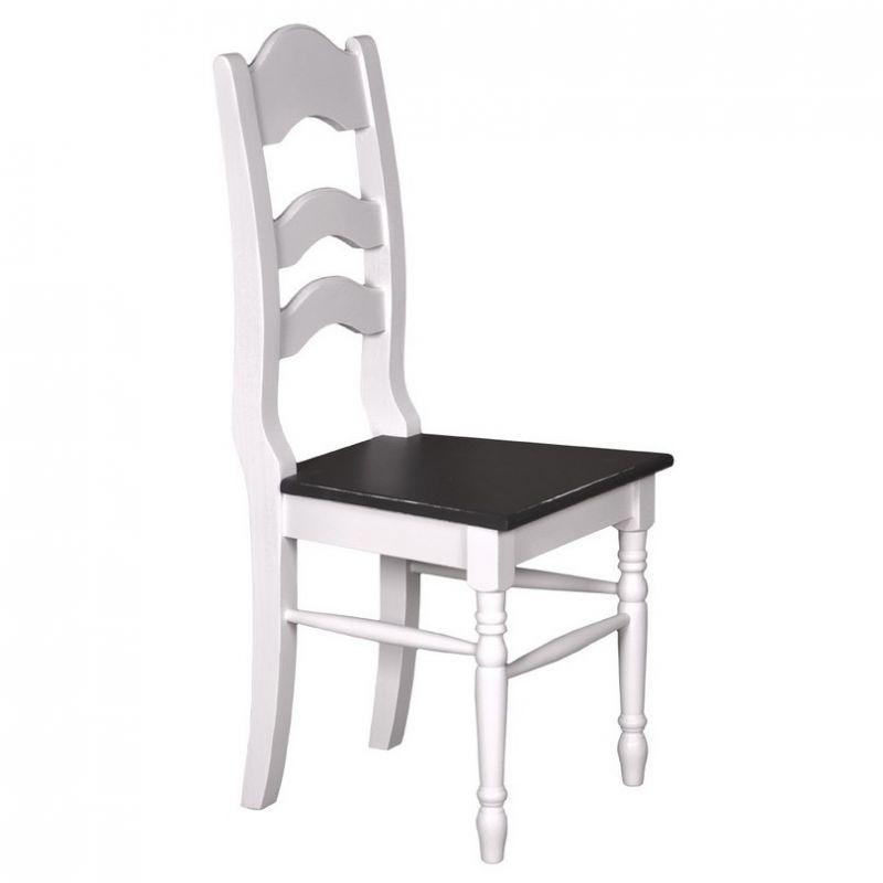 romantischer stuhl wei schwarz esszimmer k che franz sischer landhausstil landhausm bel. Black Bedroom Furniture Sets. Home Design Ideas