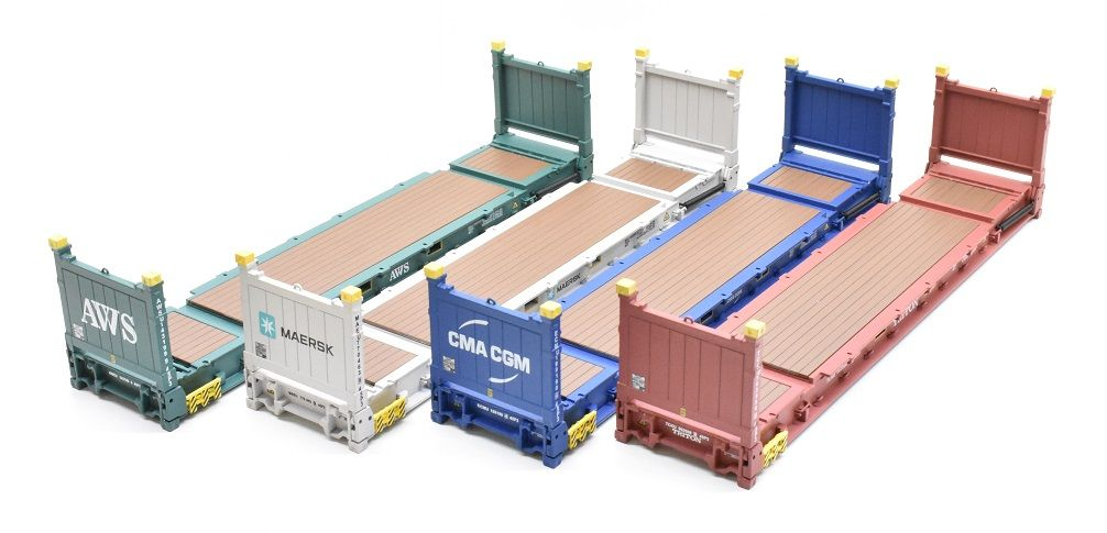 1 50 Scale Flat Rack Shipping Containers Diecast Models Diecast Scale Model Accessories