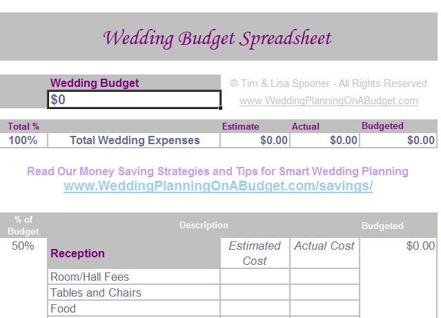wedding budget spreadsheet Home Pinterest Wedding budget - wedding budget calculators