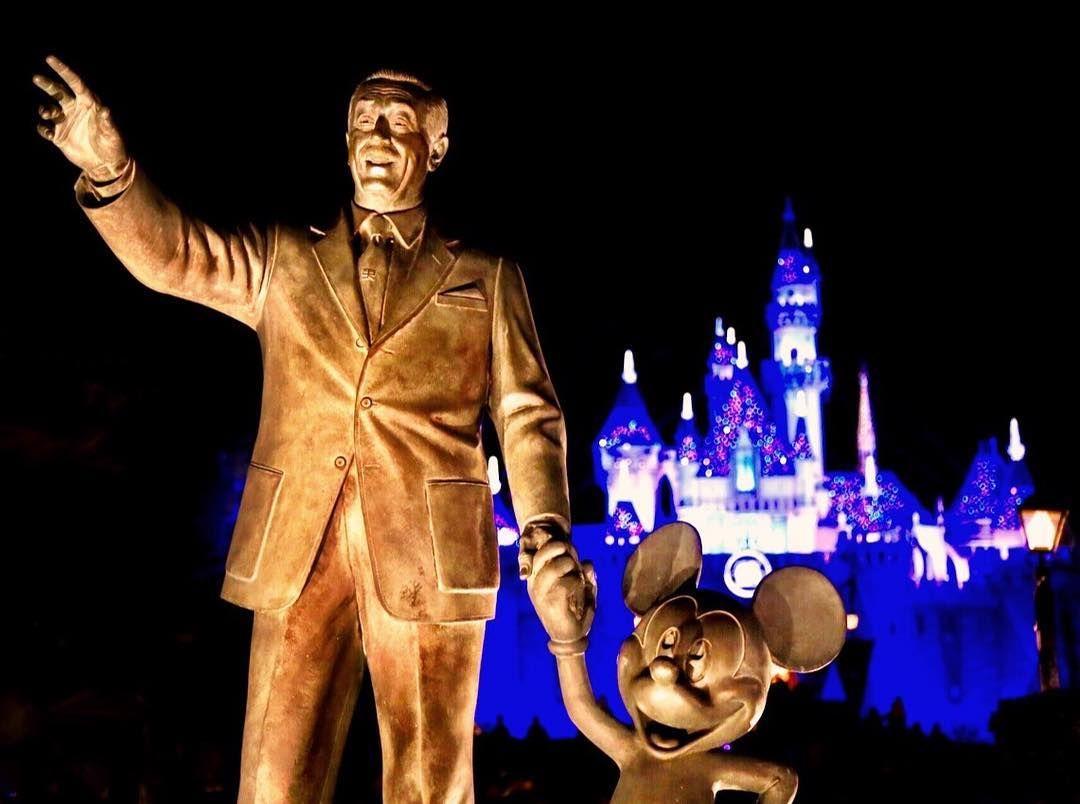 "Walt says... ""That way back to @Disneyland today Eric!"" #Disneyland #NoFilter #Night #WaltDisney by tiggerlovesyou"