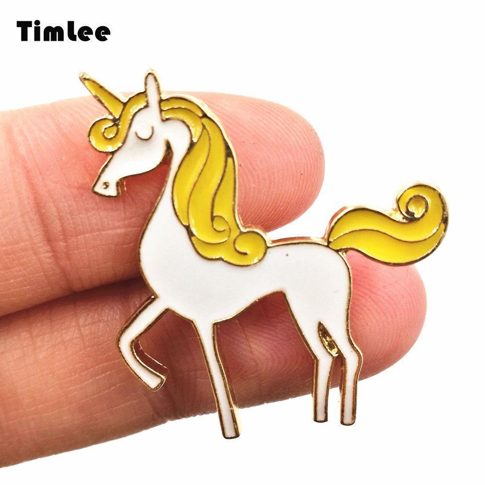 Timlee X240 Unicorn Enamel Pin Cute Unicorn Brooch Pins Fashion Jewelry Discount Jewelry Fashion Jewelry Wholesale Wholesale Jewelry