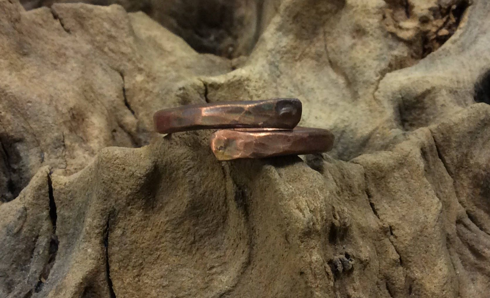 Hammered copper ring. Viking copper ring.hammered ring.Rustic copper ...